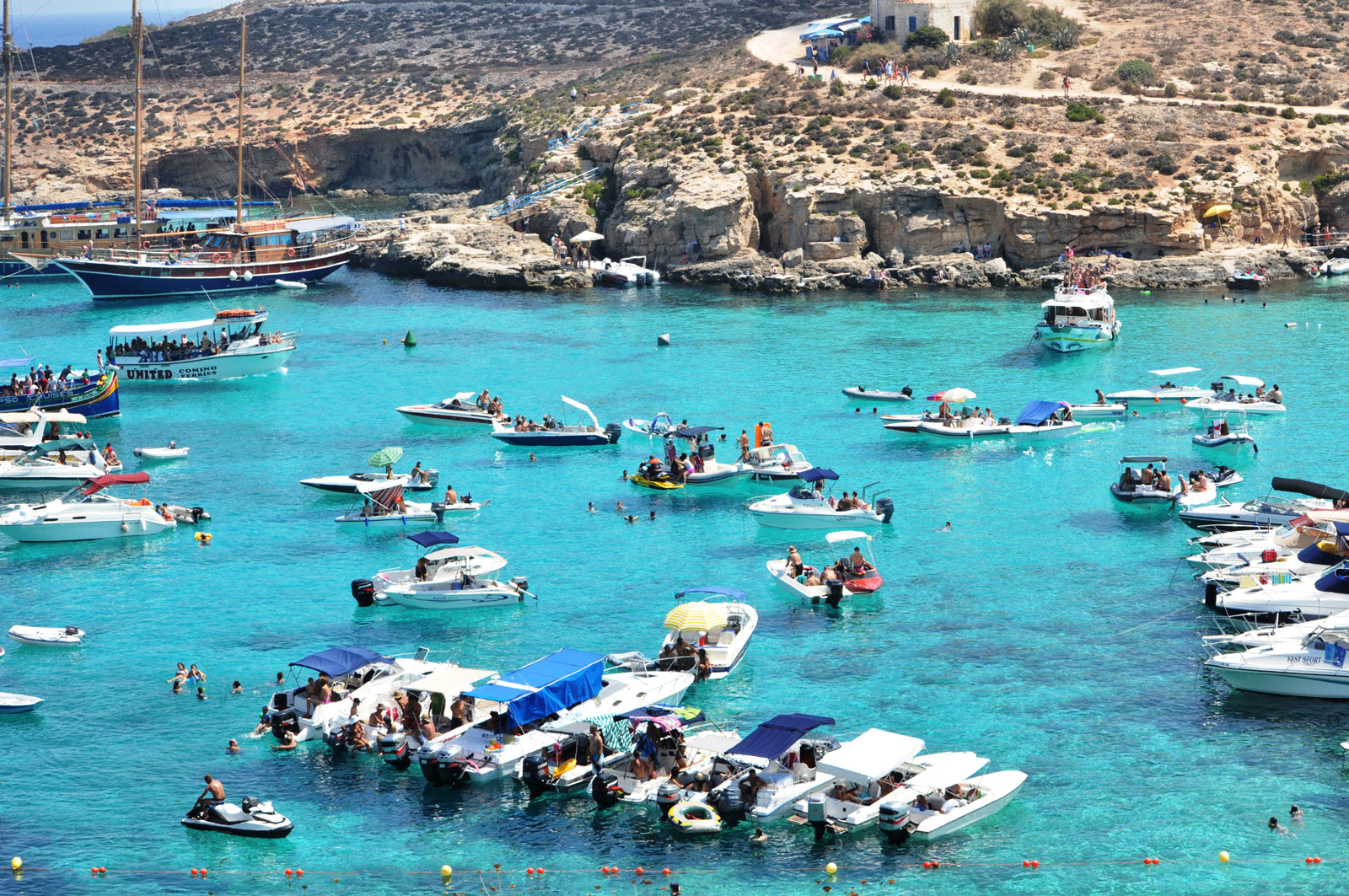 Boats Moored in the Blue Lagoon