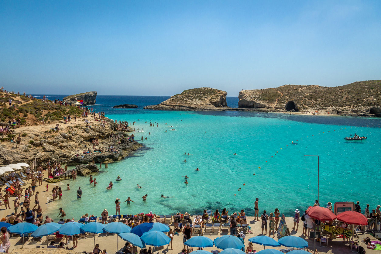 Blue Lagoon, in perfect Malta weather
