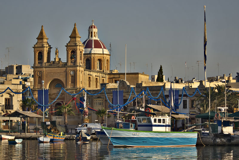 Marsaxlokk Parish Church and Harbour
