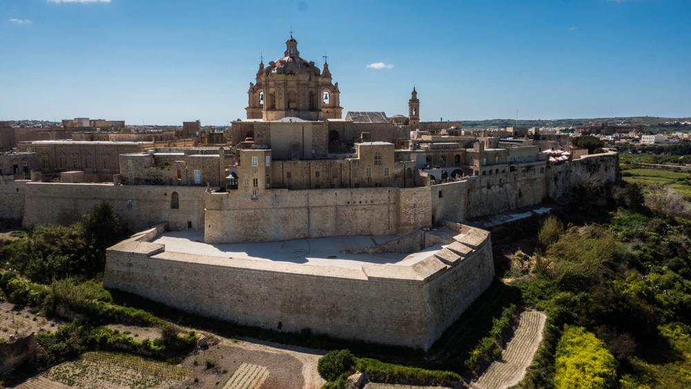 Mdina Cathedral Aerial View