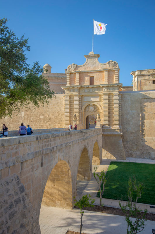 Mdina Gate, Bastions and Ditch