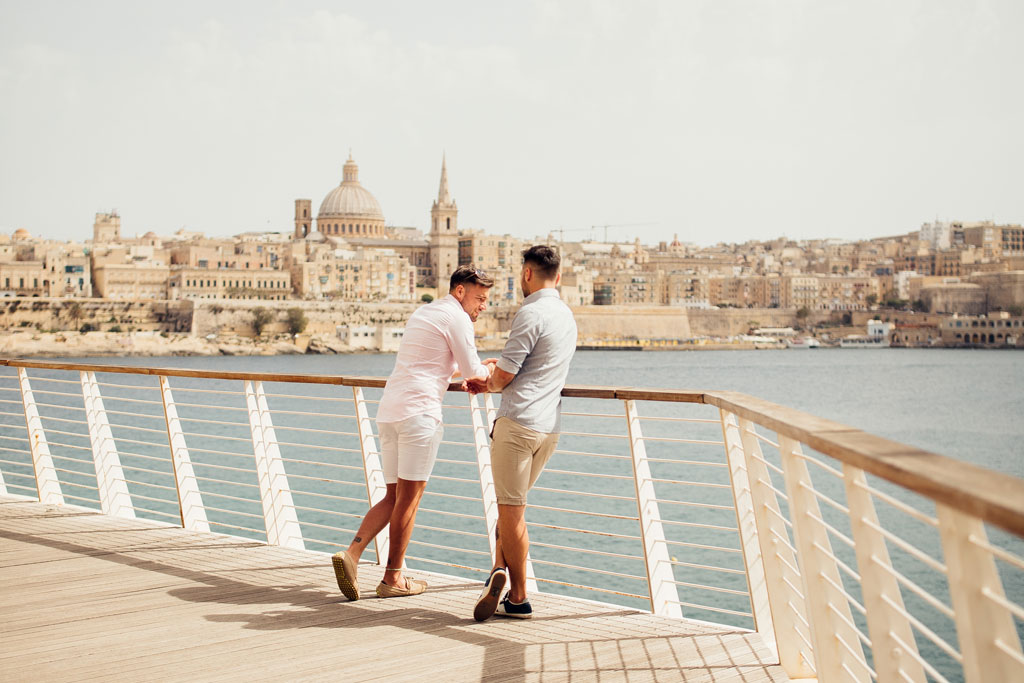 Valletta Skyline as seen from Sliema Seafront